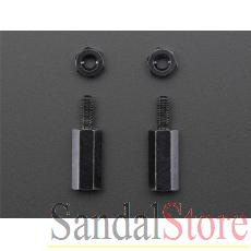 Brass M2.5 Standoffs for Pi HATs - Black Plated