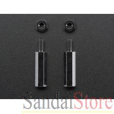 Brass M2.5 Standoffs 16mm tall - Black Plated
