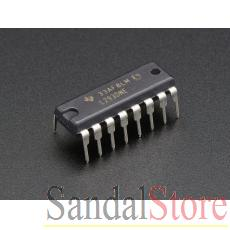 Dual H-Bridge Motor Driver for DC/Steppers L293D