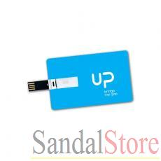 Credit card sized retractable USB memory drive (16GB)