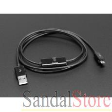 USB Micro B Cable with Data/Charge Sync Switch
