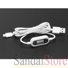 Micro B USB Cable with LCD Voltage / Current Display